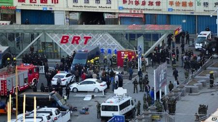 Hiện trường vụ đánh bom.