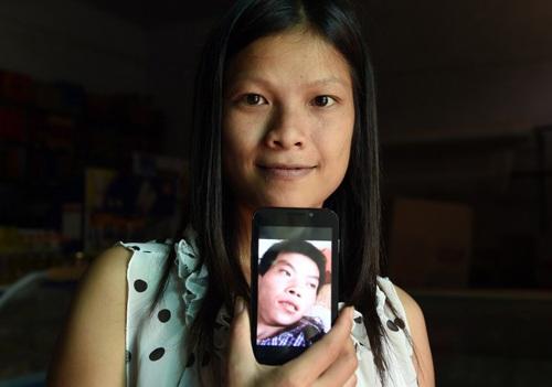 Vu Thi Hong Thuy khoe ảnh người chồng Trung Quốc.