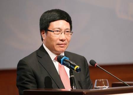 Phó Thủ tướng, Bộ trưởng Bộ Ngoại giao Phạm Bình Minh. Ảnh: Doãn Tấn - TTXVN.