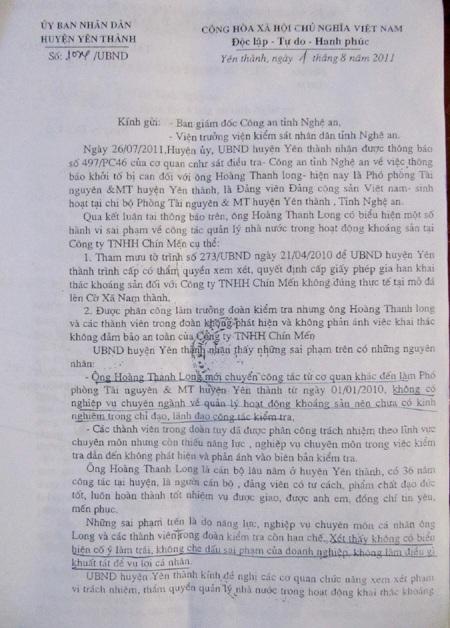 Vụ sập mỏ đá Lèn Cờ: Phó Phòng TN&MT kêu oan - 3