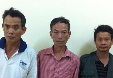 3 đối tượng trộm trâu tại cơ quan điều tra.
