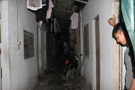 Một xóm trọ công nhân ở KCN Bắc Vinh.