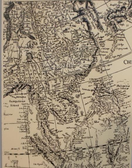 Bản đồ cổ được trưng bày tại triển lãm