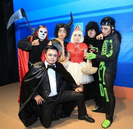Các nghệ sĩ đều đã sẵn sàng để hù dọa nhau trên sóng truyền hình vào dịp Halloween năm nay