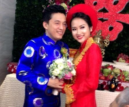 Nụ cười hạnh phúc của chú rể Lam Trường và cô dâu Yến Phương