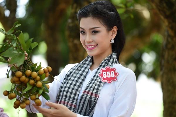 Á hậu Diễm Trang sinh năm 1991 đến từ quê hương Vĩnh Long