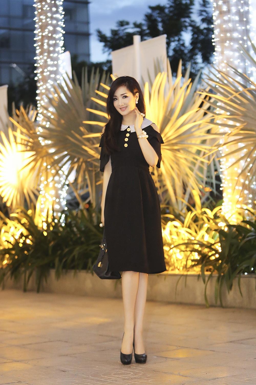 Hoa hậu Giáng My trẻ trung hút hồn
