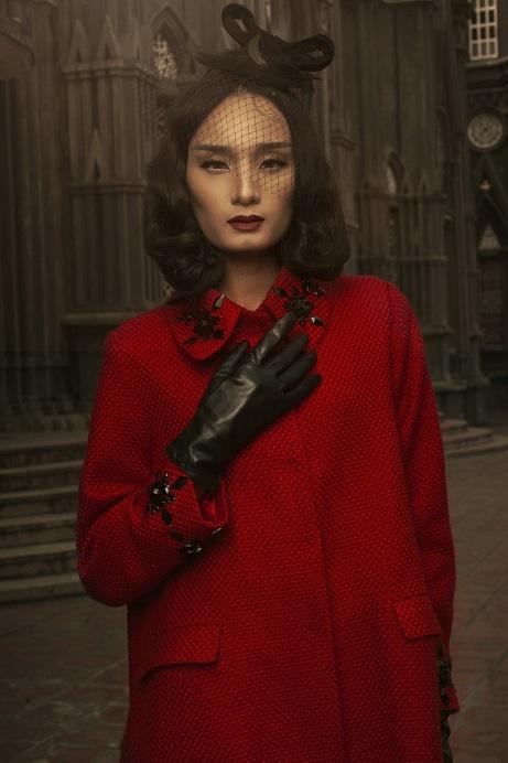 Đây cũng là cái Tết đầu tiên mà á quân Vietnam's Next Top Model được đón cùng ông xã.