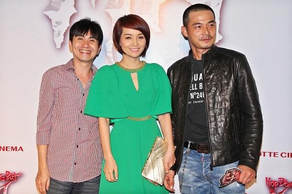 Diễn viên Mai Thu Huyền nổi bật trên thảm đỏ của buổi ra mắt phim.