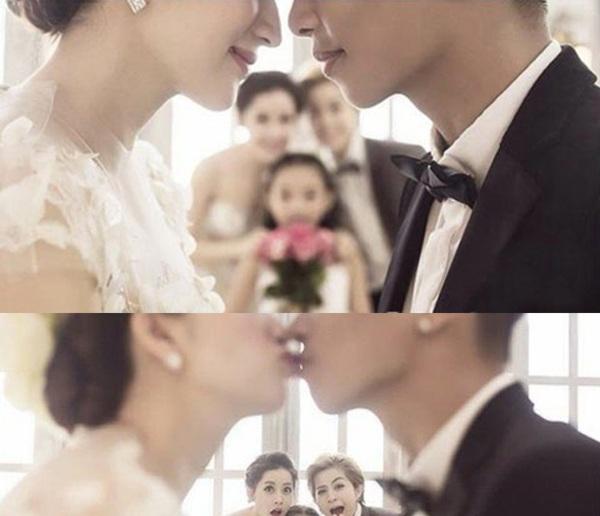 Bức ảnh cưới của Khánh Thi rò rỉ trên mạng mới đây