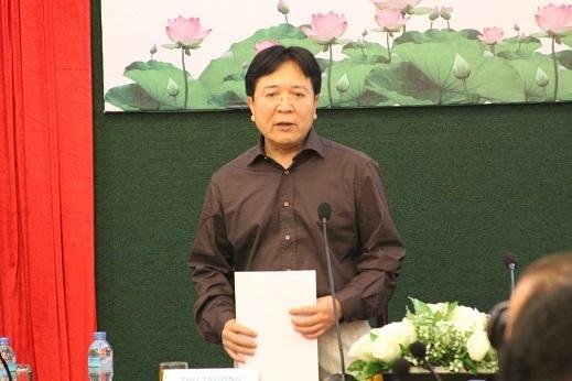 Thứ trưởng Bộ Văn hóa, Thể Thao và Du lịch Vương Duy Biên tại buổi họp báo
