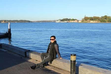 Ngoài việc đi diễn, nam ca sĩ còn dành thời gian tham quan nước Úc nơi anh đang diễn.