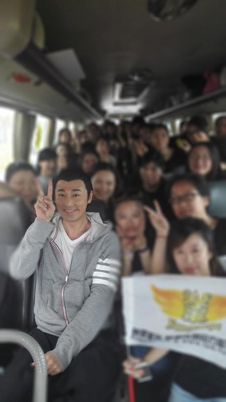 Rất đông người hâm mộ tới ủng hộ Lâm Phong