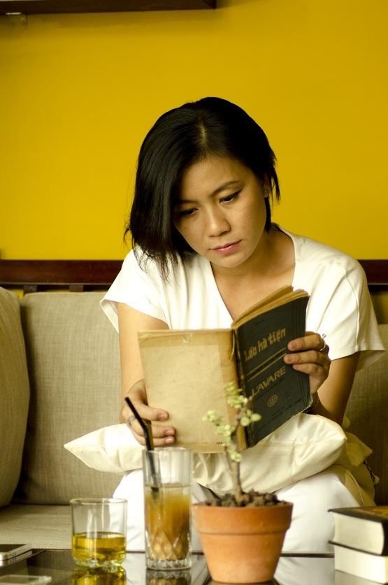Một góc trong không gian cà phê sách của chị Nguyễn Anh Chiêu