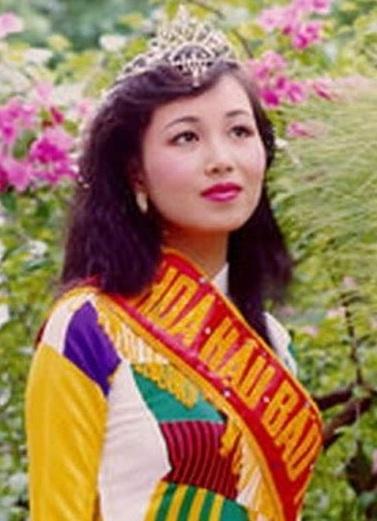 Diệu Hoa khi đăng quang năm 1990