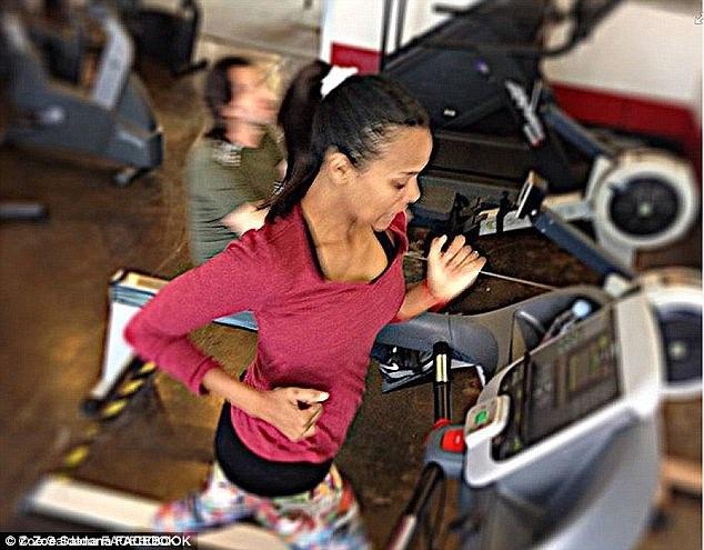 Nữ diễn viên tích cực tập luyện để lấy lại thân hình hoàn hảo.