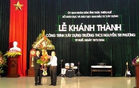 Khánh thành trường THCS trọng điểm Nguyễn Tri Phương