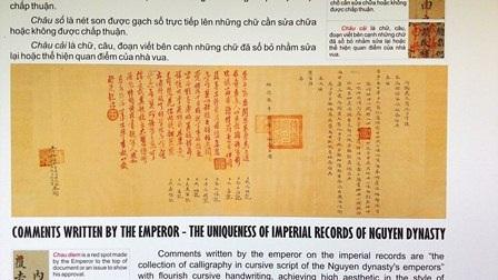 Ngự phê của nhà vua triều Nguyễn