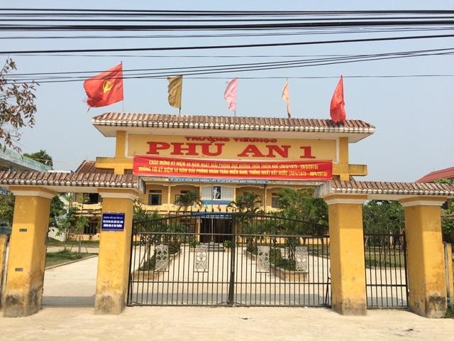 Trường Tiểu học Phú An 1, nơi xảy ra vụ việc nữ giáo viên hành hung đồng nghiệp.