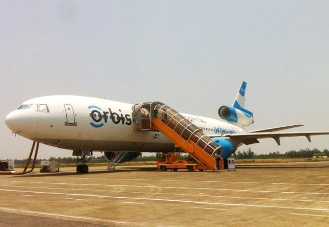 Bệnh viện Bay ORBIS đỗ máy bay tại Sân bay quốc tế Phú Bài (Huế) từ 4-15/5