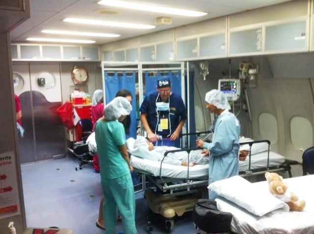 Bên trong Bệnh viện Bay ORBIS đang lưu lại Huế