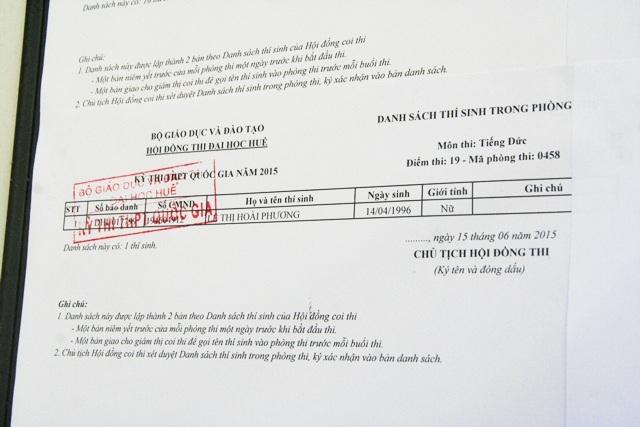 Môn thi tiếng Đức với chỉ 1 thí sinh duy nhất, nhưng không tới thi