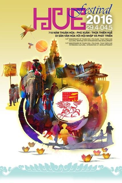 Poster của Festival Huế 2016 vừa được công bố trong ngày 8/7