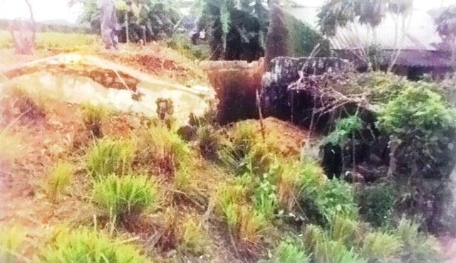 Kho đạn tại pháo đài Nam Xương bị đất vùi lấp