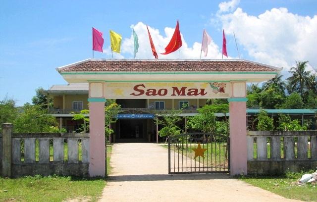 Trường Mầm non Sao Mai - nơi xảy ra sự việc phát nhầm sữa quá đát cho các em học sinh.