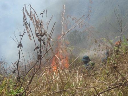 Một đám cháy đã được dập tắt nhưng sau đó lại bùng lên