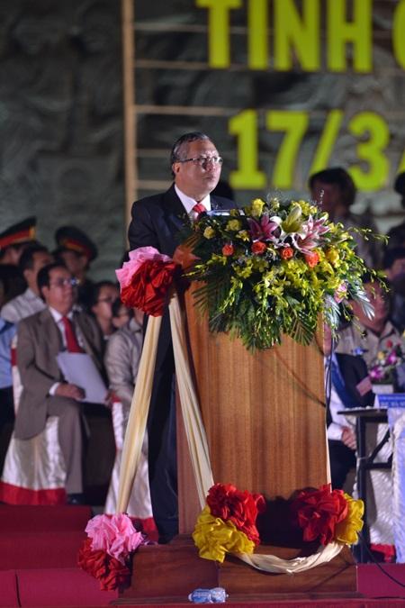 Ông Phạm Thế Dũng- Chủ tịch UBND tỉnh Gia Lai phát biểu tại buổi lễ.