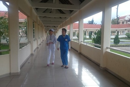 Khu vực phòng bệnh nơi các bệnh nhân được cách ly