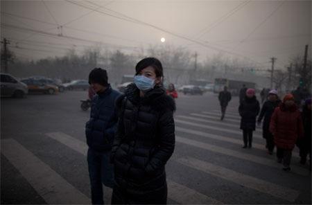 Bầu không khí bị ô nhiễm nặng nề của Trung Quốc.