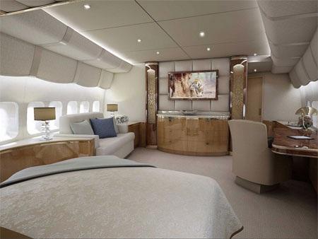 Bất kỳ phòng nào trên Boeing 747-8 VIP cũng đều có thể được điều chỉnh theo ý muốn của khách.