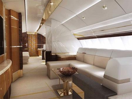 Trên chiếc máy bay tư nhân VIP này có rất nhiều nơi để nghỉ ngơi, thư giãn.