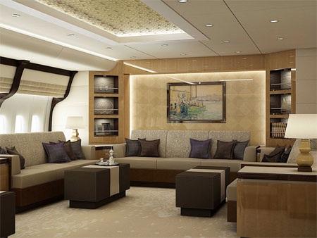 Thiết kế của Boeing 747-8 VIP có thể được điều chỉnh tùy theo ý thích của khách hàng.