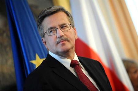 Tổng thống Ba Lan Bronislaw Komorowsk.