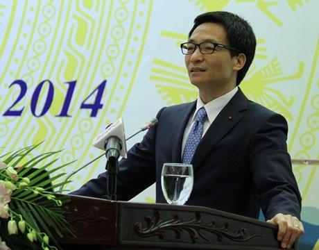 Phó Thủ tướng Vũ Đức Đam phát biểu chỉ đạo tại hội nghị. Ảnh: Chinhphu.vn