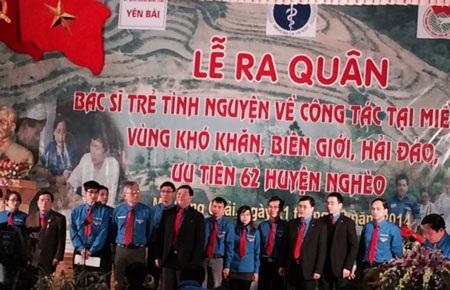 14 bác sĩ trẻ tham gia trong lễ ra quân tình nguyện, trong đó có 6 bác sĩ trẻ được