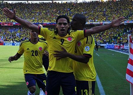 Falcao tỏa sáng giúp Colombia thắng Uruguay 4-0 tại khu vực Nam Mỹ