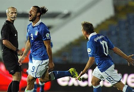 Osvaldo lập cú đúp, đáng tiếc là Italia vẫn bị Bulgaria cần hòa 2-2
