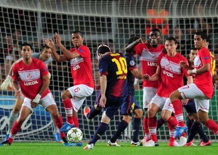 Những nỗ lực của Messi đã được đền đáp ở phút 80...