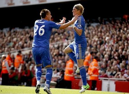 Torres mở tỷ số 1-0 cho Chelsea