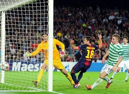 Jordi Alba tỏa sáng ở phút 94 giúp Barcelona đánh bại Celtic 2-1