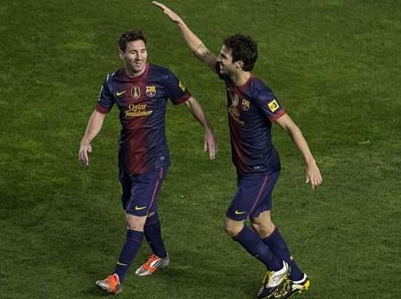 Fabregas và Messi đang bùng nổ tại Barcelona