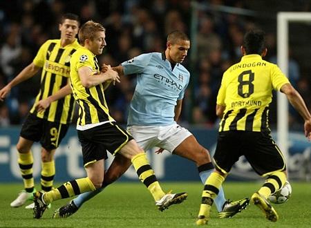 Dortmund đã gây nhiều khó khăn cho Man City ở lượt đấu trước