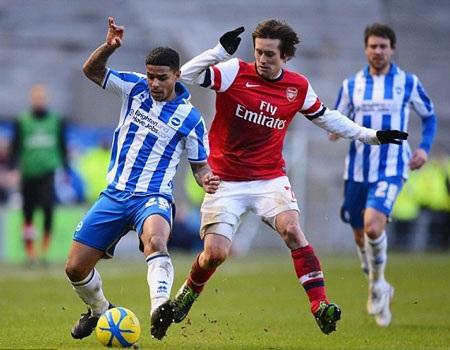 Arsenal đã đối diện nhiều khó khăn trên sân của Brighton