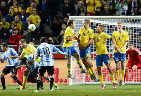 Lionel Messi đã có một trận đấu khá thành công