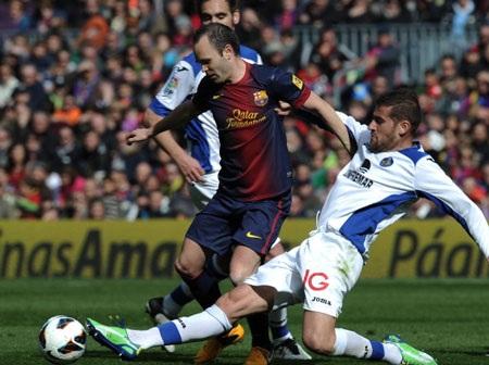 Iniesta đã chơi khá hay trong vai trò nhạc trưởng ở khu vực giữa sân