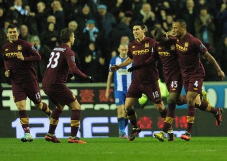 Man City đang rất hưng phấn sau khi lọt vào chung kết FA Cup